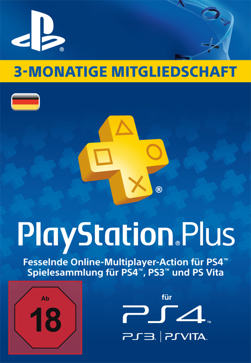 Sony PlayStationPlus Live Card (90 Tage) PSN Card (Playstation 4)